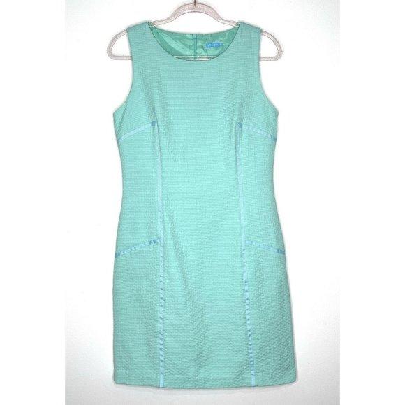 J.McLaughlin Aqua Blue Sleeveless Sheath Dress